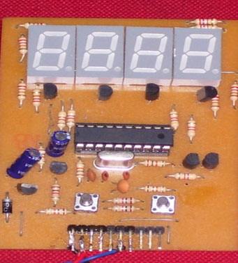 Micro-controller based 4 digit timing module