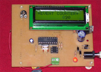 BEST ELECTRONICS PROJECTS: Microcontroller Based Event Counter